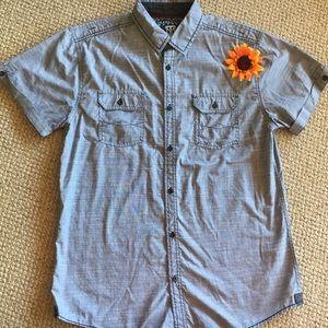 Tranquility Mayhem button down shirt